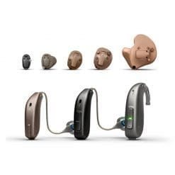 Full range of Oticon Siya hearing aids